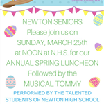NEWTON SENIOR LUNCHEON SUNDAY MARCH 25 2018