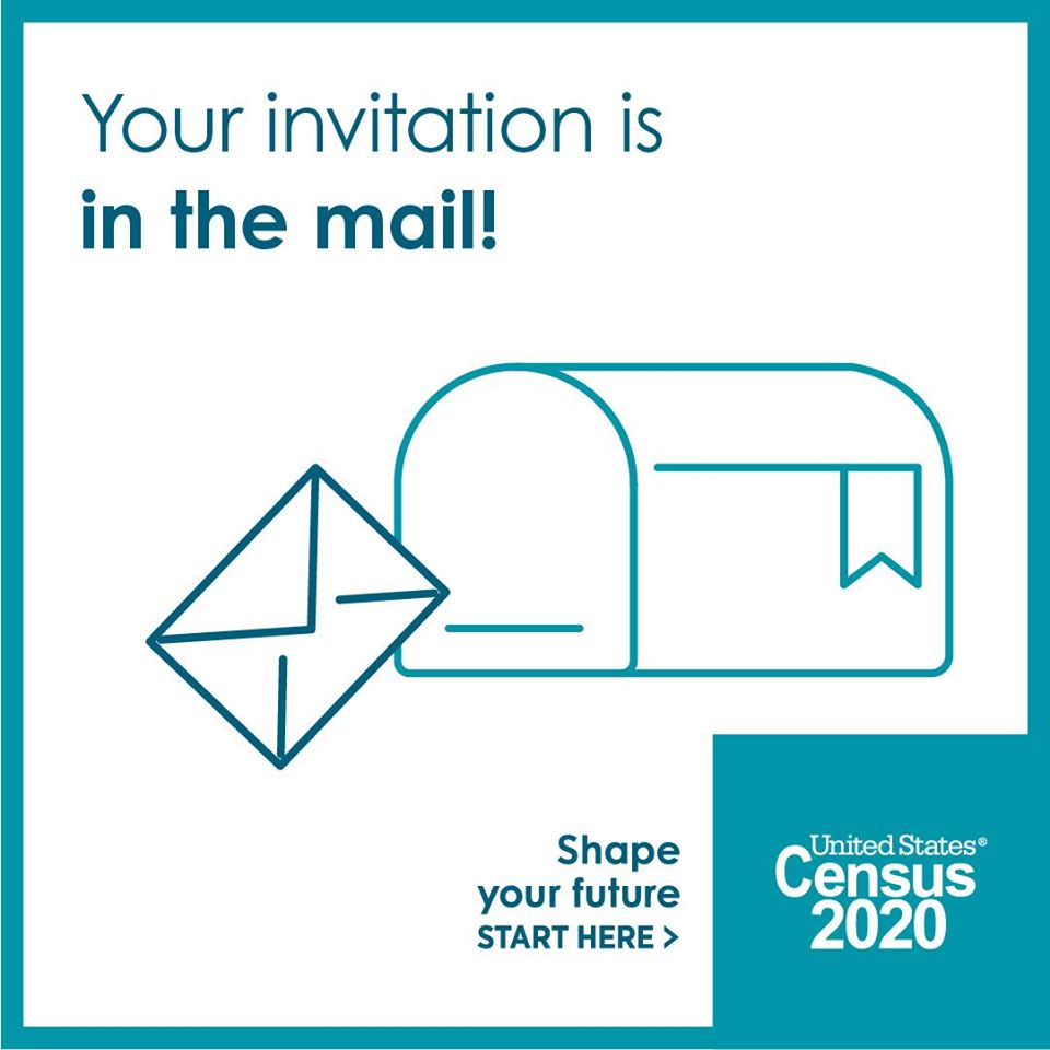 2020 US Census invite in the Mail